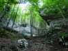 Výstup k jaskyni Mažarná