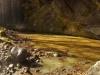 Vodopád s jazierkom pod skalou pri Litave